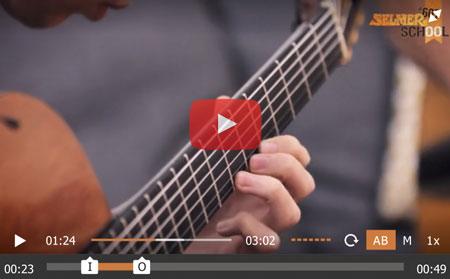 lecteur vidéo boucle et ralenti cours de guitare